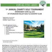 KDM Helping Hands 1st Annual Charity Golf Tournament Registration Form